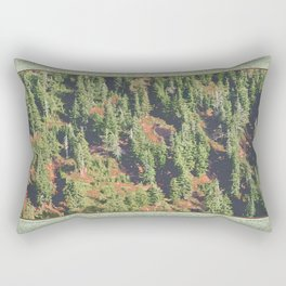 AUTUMN BLUEBERRIES IN OPEN ALPINE FOREST NORTH CASCADE RANGE Rectangular Pillow