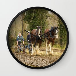 Working Horses 3 Wall Clock