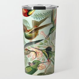 Vintage Hummingbirds Decorative Illustration Travel Mug