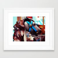 carousel Framed Art Prints featuring Carousel by Noonday Design