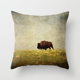 Lone Buffalo Throw Pillow