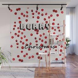 Happy berry christmas II Wall Mural