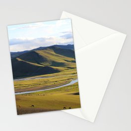In the steps of Genghis Khan Stationery Cards