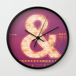 Neon Ampersand Wall Clock