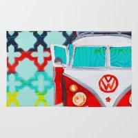 vw Area & Throw Rugs featuring VW by Drica Lobo Art
