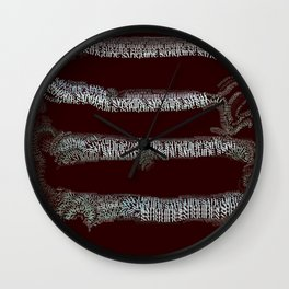 Sanguine Wall Clock