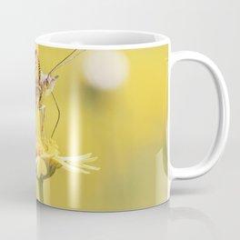 Orange butterfly feeding on yellow marigolds Coffee Mug