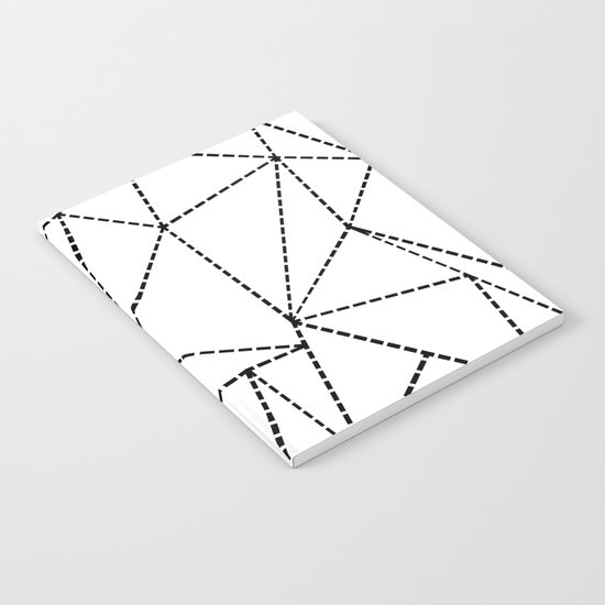 Abstract Dotted Lines Black and White Notebook