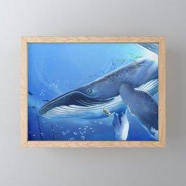 Fantasy Whale Fantasy Animals Framed Mini Art Print