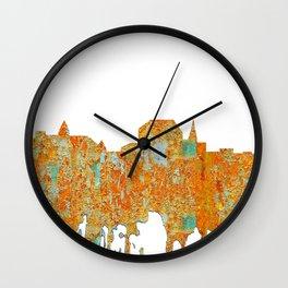Augusta, Maine Skyline - Rust Wall Clock