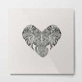 Huge Heart Metal Print