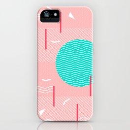 Memphis Summer Splash iPhone Case