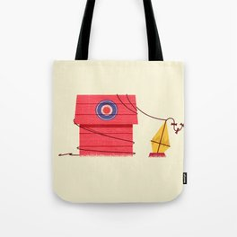 The Red Baron or Snoopy's Doghouse Tote Bag