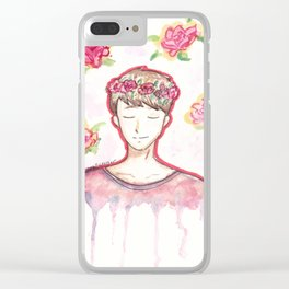 Dan Howell Flowers Clear iPhone Case