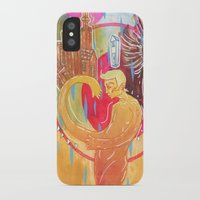 cities iPhone & iPod Cases featuring Building Cities by Manfish Inc.