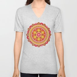 Cinnamon Flower Unisex V-Neck
