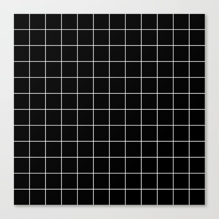 Grid Pattern Line Stripe Black and White Minimalist Geometric Stripes Lines Leinwanddruck