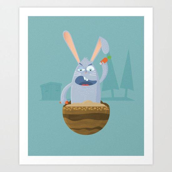 Fake Food Rabbit Art Print