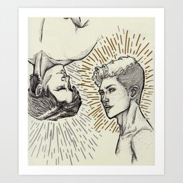 Snowbaz Art Print