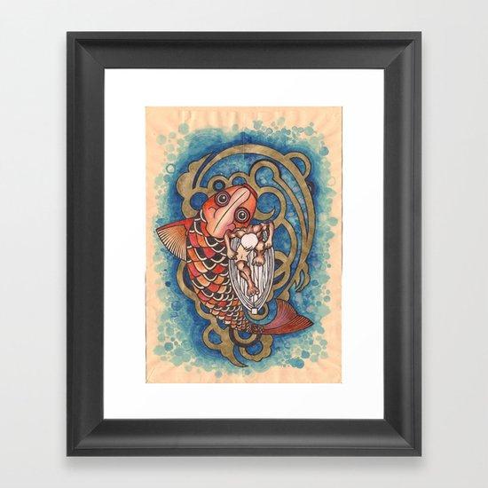 old fisherman Framed Art Print