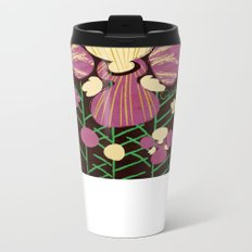 Floral Flower Artprint Metal Travel Mug