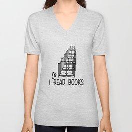 I reREAD books Unisex V-Neck