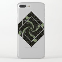 Spiralling Water Lilies Clear iPhone Case