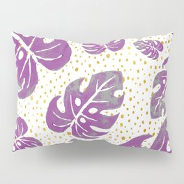 purple leaves on dots Pillow Sham