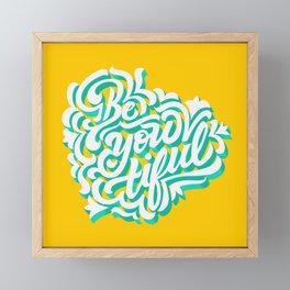 Be-you-tiful Framed Mini Art Print