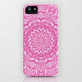 Pink Magenta Detailed Ethnic Eclectic Mandala Mandalas iPhone Case