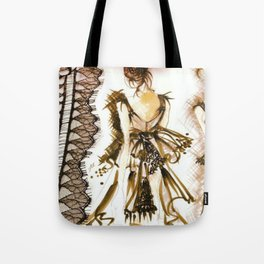 LITTLE BLACK COUTURE DRESS Tote Bag