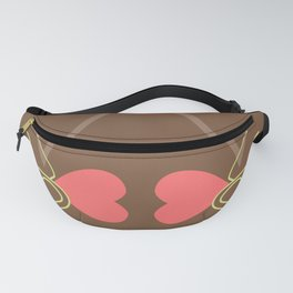 Two Lovers Hands - Brown Minimalist Graphic Fanny Pack