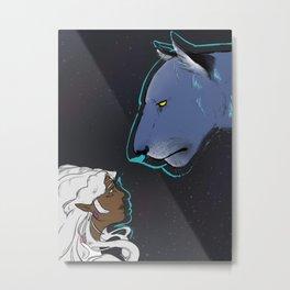 Allura and Blue Metal Print