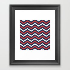 Chevron pattern nautical Framed Art Print