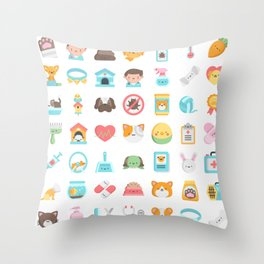 CUTE VET / VETERINARIAN PATTERN Throw Pillow