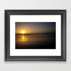 Sunset over the Pacific Framed Art Print