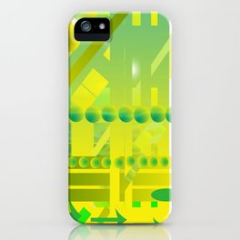 geometric forms iPhone Case