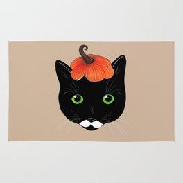 Pumpkin Kitty Rug