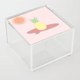Surfing pineapple - sunset Acrylic Box