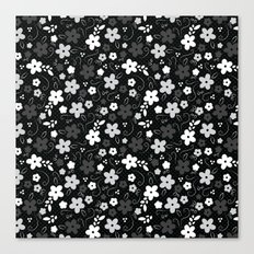 Black & White Floral Canvas Print