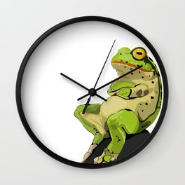 Relaxing Frog Wall Clock