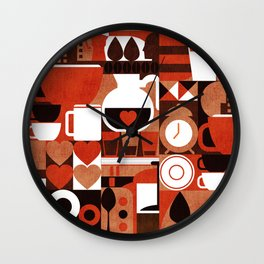 Coffee Story Wall Clock