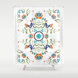 Hungarian folk art Shower Curtain