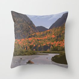 Parc National de la Mauricie Throw Pillow