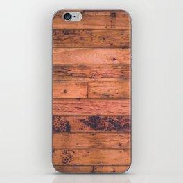 Vintage Rustic Wood Floor Pattern iPhone Skin