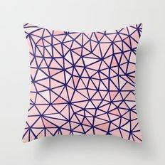 Broken Blush Throw Pillow