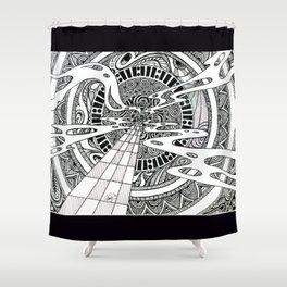 Spiral Portal Shower Curtain