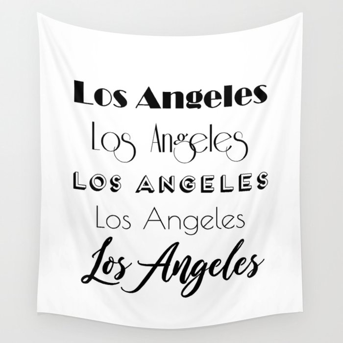 photo about Calligraphy Letters Printable identified as Los Angeles Metropolis Estimate Signal, Electronic Obtain, Calligraphy Terms Artwork, Huge Printable Images Wall Tapestry via radub85