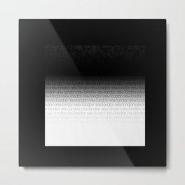 NL Black and White Metal Print
