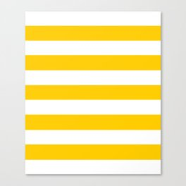 USC Gold - solid color - white stripes pattern Canvas Print